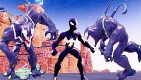 Чёрный Человек Паук Против Симбиота Black Man Spider Against Symbiotite