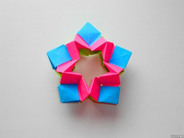 Оригами 3D звезда из бумаги. Новогоднее украшение на елку, Статьи и публикации