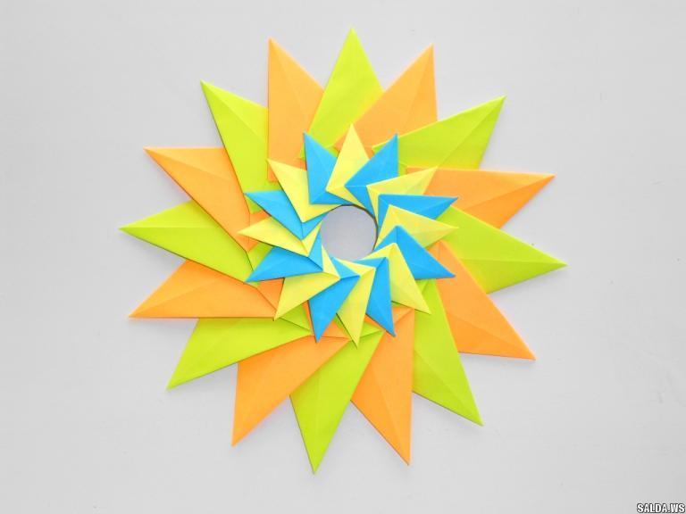 Объемная звезда из бумаги поделки оригами